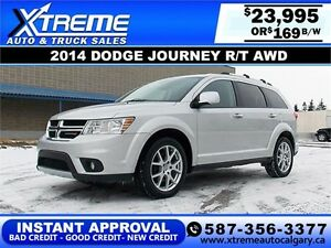 2014 Dodge Journey R/T AWD $169 bi-weekly APPLY NOW DRIVE NOW