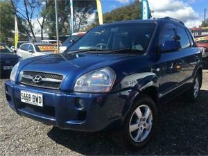 2008 Hyundai Tucson 08 Upgrade City SX Blue 4 Speed Automatic Wagon Elizabeth West Playford Area Preview
