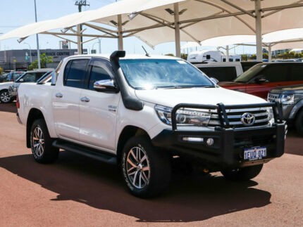 2015 Toyota Hilux GUN126R SR5 (4x4) White 6 Speed Automatic Dual Cab Utility Jandakot Cockburn Area Preview