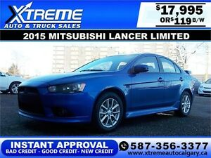 2015 Mitsubishi Lancer $119 bi-weekly APPLY NOW DRIVE NOW