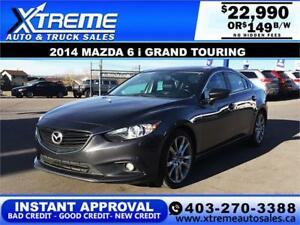 2014 MAZDA 6 i GT SKYACTIV $149 B/W APPLY NOW DRIVE NOW