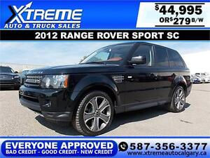2012 Range Rover Sport 4WD $279 bi-weekly APPLY NOW DRIVE NOW