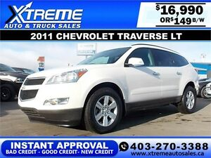 2011 CHEVROLET TRAVERSE LT AWD $149 BI-WEEKLY APPLY NOW