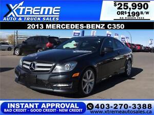 2013 MERCEDES-BENZ C350 COUPE $199 B/W APPLY NOW DRIVE NOW