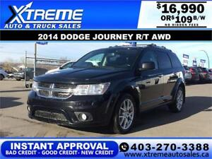 2014 DODGE JOURNEY R/T AWD $109 BI-WEEKLY APPLY NOW DRIVE NOW