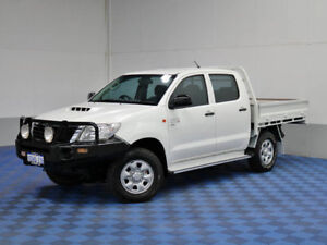 2013 Toyota Hilux KUN26R MY12 SR (4x4) White 5 Speed Manual Dual C/Chas