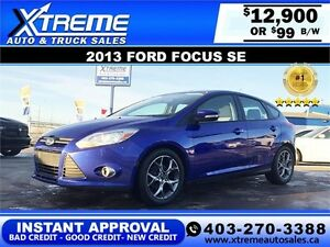 2013 Ford Focus  SE $99 BI-WEEKLY APPLY TODAY DRIVE TODAY
