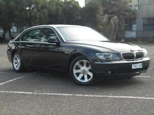 2005 BMW 740LI E66 MY05 Upgrade Black 6 Speed Auto Steptronic Sedan Maidstone Maribyrnong Area Preview