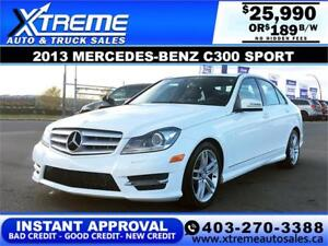 2013 MERCEDES-BENZ C300 4MATIC *INSTANT APPROVAL $0 DOWN $399/BW