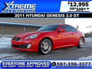 2011 Hyundai Genesis 2.0 GT $109 BI-WEEKLY APPLY NOW DRIVE NOW