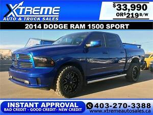 2014 DODGE RAM SPORT CREW *INSTANT APPROVAL $0 DOWN $219/BW