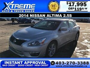 2014 Nissan Altima $119 bi-weekly APPLY NOW DRIVE NOW
