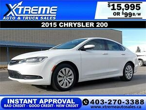 2015 Chrysler 200 LX $99 bi-weekly APPLY NOW DRIVE NOW