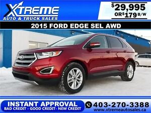 2015 Ford Edge SEL AWD $179 BI-WEEKLY APPLY NOW DRIVE NOW