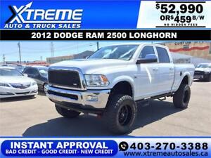 2012 RAM 3500 LONGHORN LIFTED *INSTANT APPROVAL $0 DOWN $459/BW