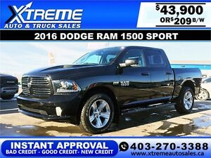 2016 Ram 1500 Sport Crew $289 BI-WEEKLY APPLY NOW DRIVE NOW