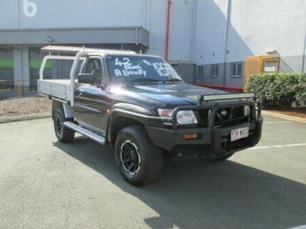 2002 Nissan Patrol GU DX Plus Black 5 Speed Manual Cab Chassis Archerfield Brisbane South West Preview