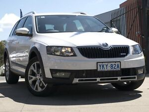 2016 Skoda Octavia NE MY16 SCOUT PREMIUM DSG 135TDI Candy White 6 Speed Sports Automatic Dual Clutch Pearce Woden Valley Preview