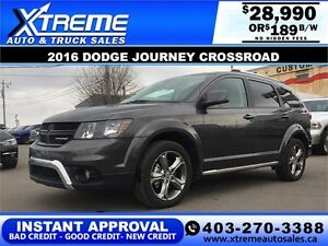 2016 Dodge Journey AWD $189 bi-weekly APPLY NOW DRIVE NOW