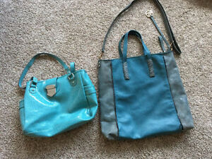 Large aqua tote and Liz Clairborne purse