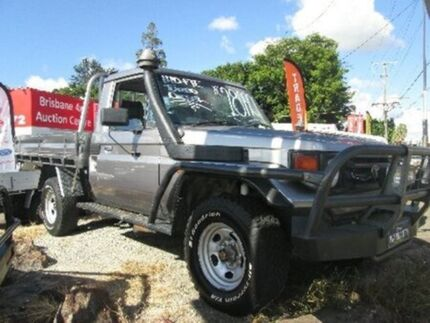2002 Toyota Landcruiser HZJ79R Silver 5 Speed Manual Cab Chassis Coopers Plains Brisbane South West Preview