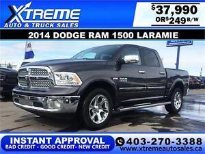 2014 DODGE RAM LARAMIE *INSTANT APPROVAL* $0 DOWN $249/BW!