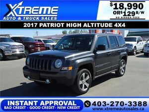 2017 Jeep Patriot High Altitude  $129 B/W *INSTANT APPROVAL*