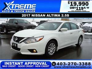 2017 NISSAN ALTIMA 2.5 S $119 B/W APPLY NOW DRIVE NOW