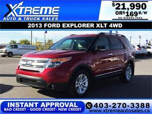 2013 FORD EXPLORER XLT 4WD $169 BI-WEEKLY APPLY NOW DRIVE NOW