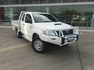 2014 Toyota Hilux KUN26R MY14 SR (4x4) Glacier White 5 Speed Manual X Cab Cab Chassis Kilmore Mitchell Area Preview