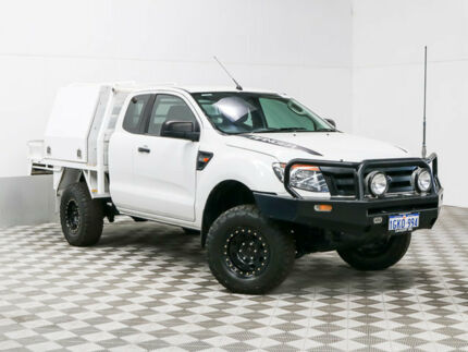 2012 Ford Ranger PX XL 3.2 (4x4) White 6 Speed Manual Super Cab Utility