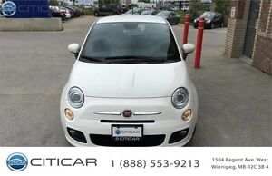 2015 FIAT 500 SPORT. LOW KM! KEYLESS! CLEAN TITLE! LEATHER!