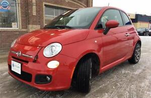 2014 FIAT 500 Sport,**LOCAL VEHICLE**LEATHER**FUEL MISER**