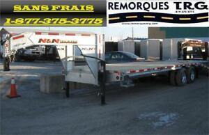 Remorque Flat Bed 25 Pieds Galvanisé Gooseneck 25,000 lbs