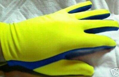 5 PAIRS! Scuba Diving Snorkeling Gloves Light weight Warm Water Yellow/Blue Gear Scuba Diving Glove Gear