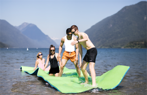 FLOATING WATER MAT / FORTRESS ROSSO-18 ft  for $399 !!!