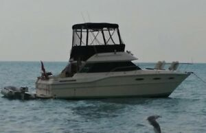 1988 Sea Ray Sedan 300 flybridge (sport fish) OR TRADE FOR ?