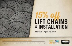 15% OFF on Forklift chains and installation