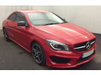 RED MERCEDES-BENZ CLA 220 200 180  CDI AMG LINE Coupe SPORT FROM £119 PER WEEK!