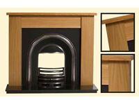 fireplace - Wooden Utah, oak