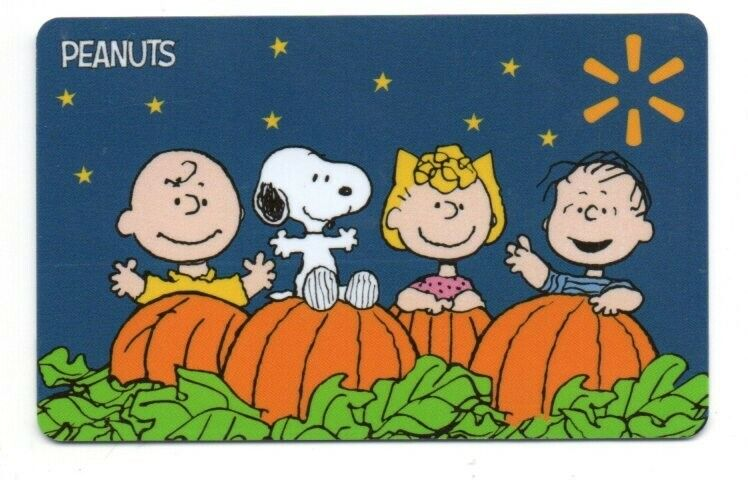 Walmart Peanuts Halloween Snoopy Pumpkin Gift Card No$Value Collectible FD102194
