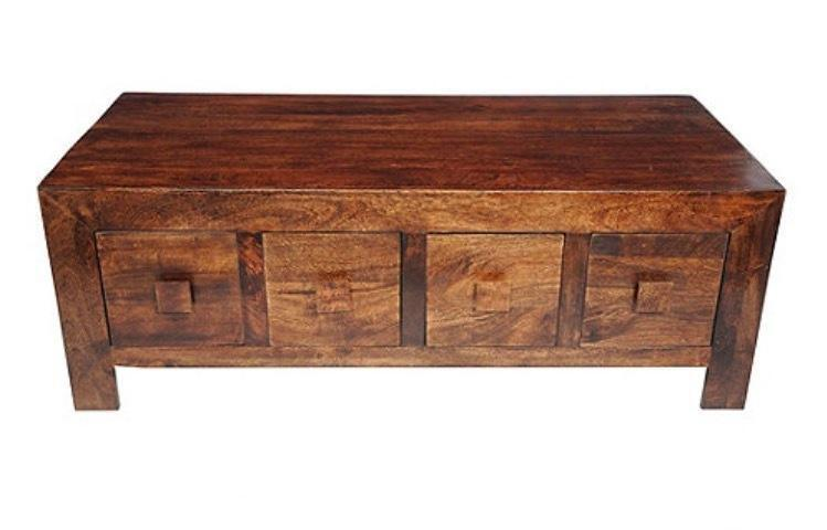 Mango wood coffee table with 8 drawers used in newton for Coffee tables gumtree london