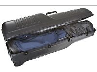 Hard shell golf flight travel case