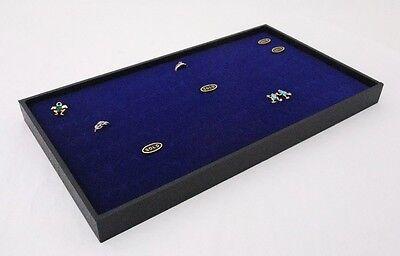 72 Ring Wood Tray With Blue Velvet Foam Insert