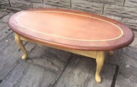 Large solid coffee table...