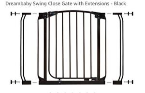 Two Dreambaby gates with extension