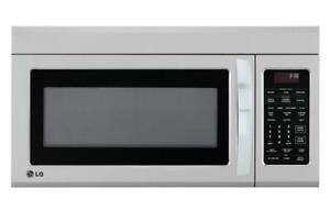 LG Appliances LMV1852ST 1.8-cu ft Over-The-Range Microwave Sensor Cooking Controls (Stainless Steel) 30-Inch