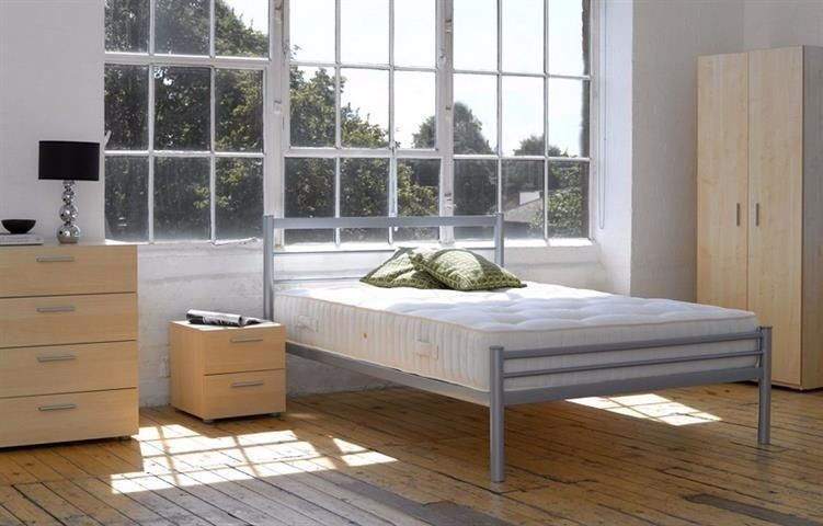 *7-DAYS MONEY BACK GUARANTEE* SINGLE DOUBLE/SMALL DOUBLEMETAL BED