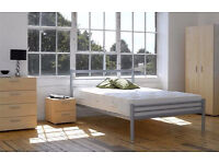 **FREE DELIVERY** DOUBLE/SMALL DOUBLE ALPEN METAL BED FRAME WITH MATTRESSES OF CHOICE, SINGLE AVAILA