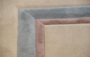 PRICED TO GO!Custom High End~Wool~Beige Carpet w/ THICK Underpad